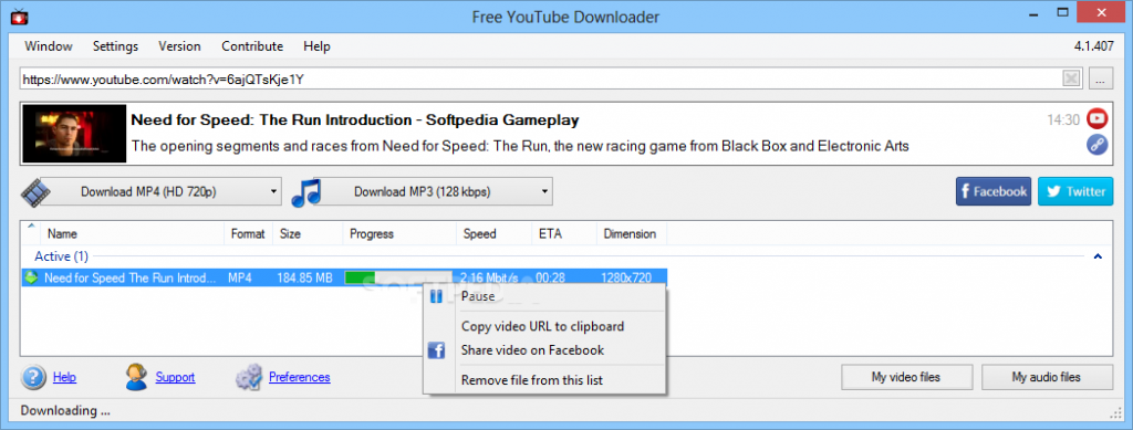 free youtube download v 4.1 85